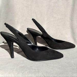 Jeffrey Campbell Suede Slingback Black Heels 38